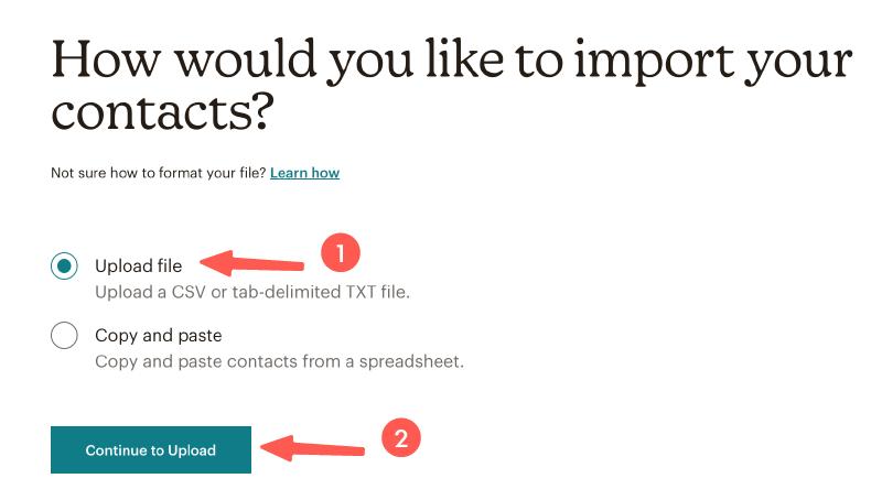 MailChimp教學 :選擇匯入方式
