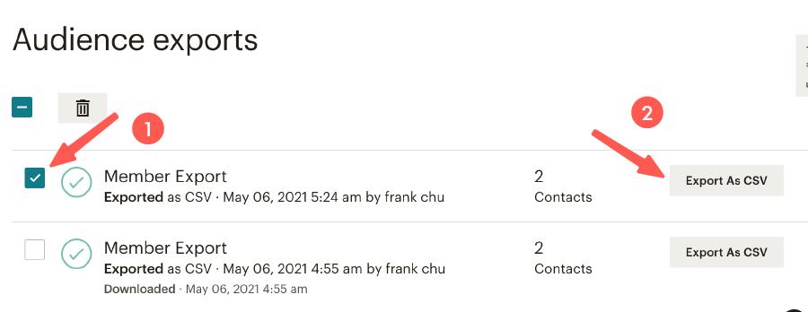 MailChimp教學 :匯出訂閱者