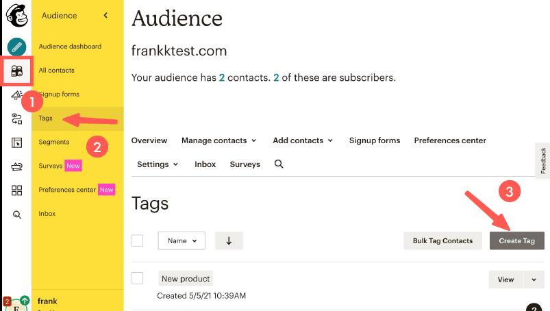 MailChimp教學 :建立 Tags 標籤