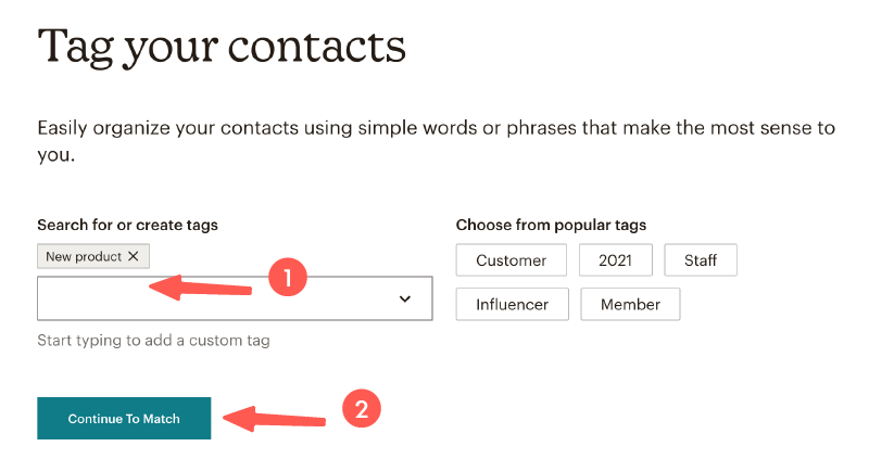 MailChimp教學 :設定標籤
