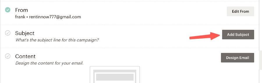 MailChimp教學 :Subject 編輯信件標題