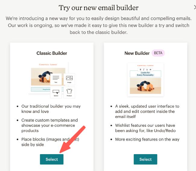 MailChimp教學 :選擇信件內容編輯器