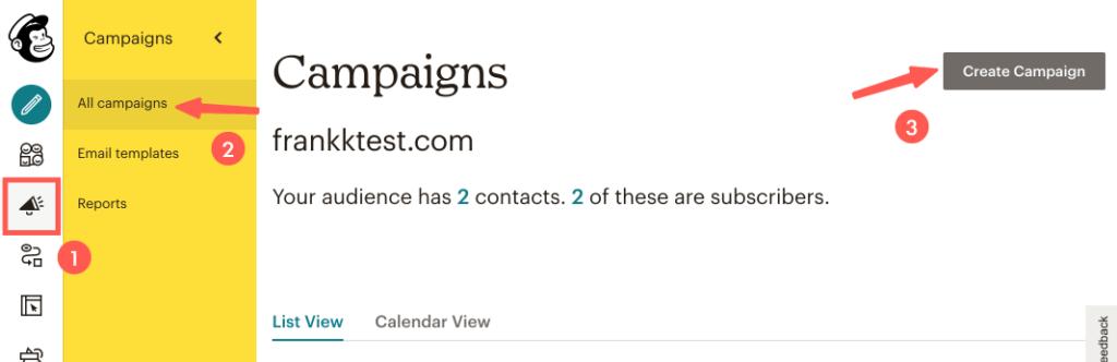 MailChimp教學 :新增廣告活動