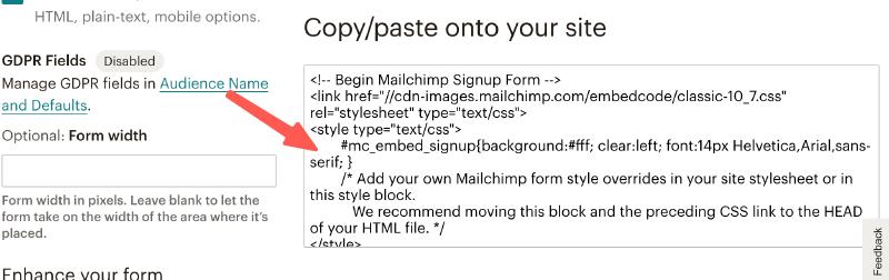 MailChimp教學 :複製程式碼