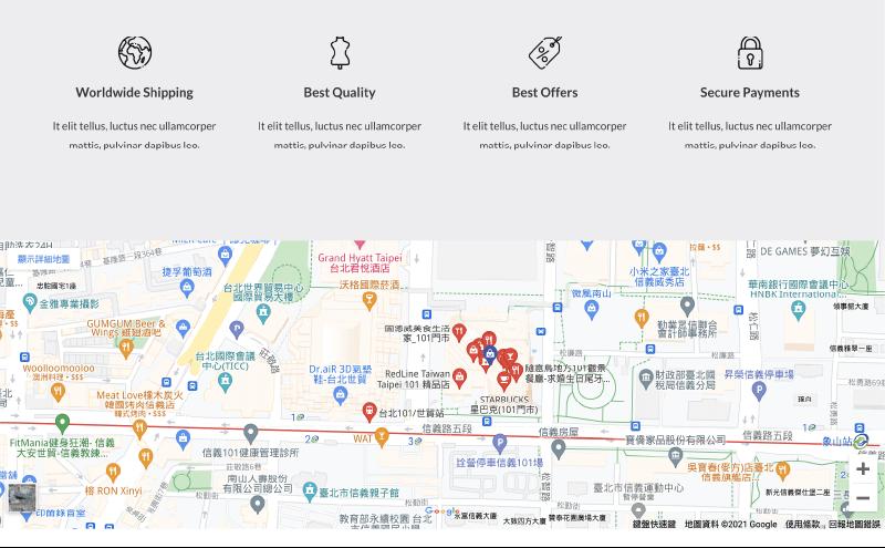 Google Map 嵌入地圖 :使用 Elementor 嵌入 Google Map 成功!