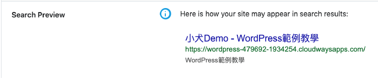 Search Preview 搜尋結果預覽
