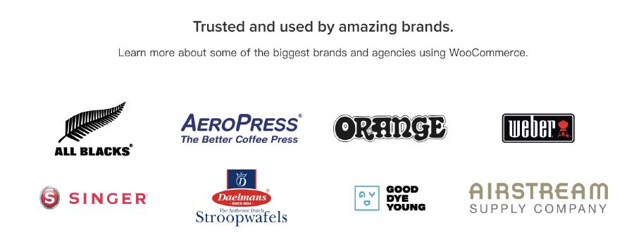 WooCommerce是什麼:世界多家知名品牌,均使用 WooCommerce 建置