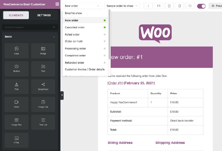 YayMail 教學:WooCommerce 電子報多種設計元素