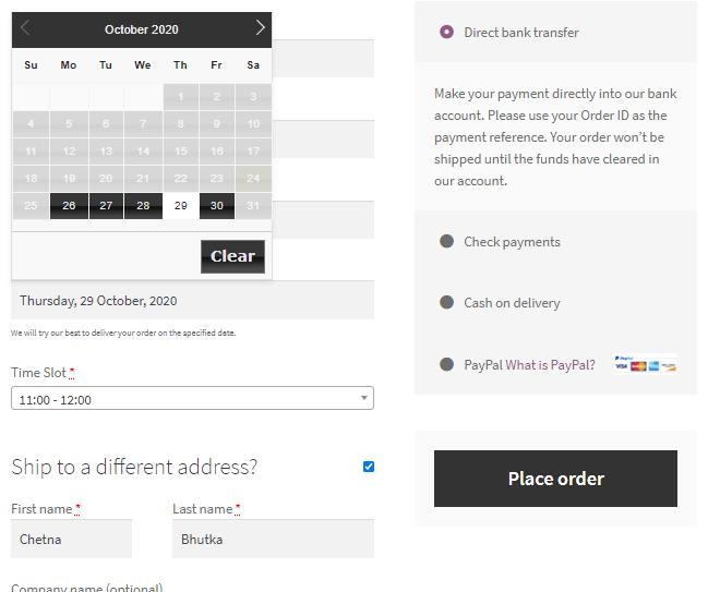 Order Delivery Date 消費者可在結帳時選擇到貨日期