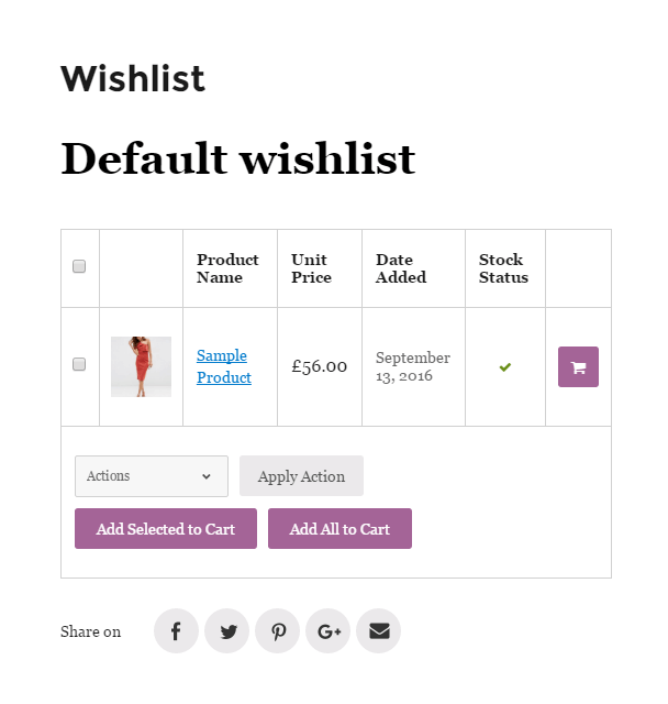 TI WooCommerce Wishlist 顧客可在願望清單添加商品