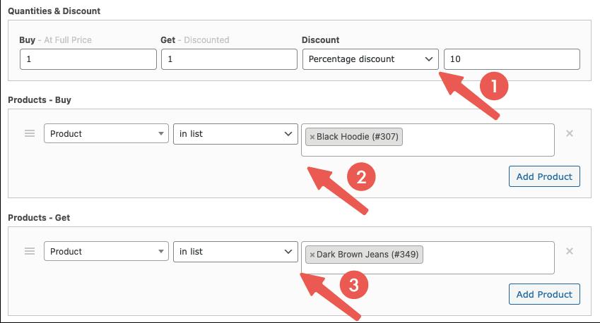 電商行銷活動:設定 Buy( X )和 Get( Y )折扣商品
